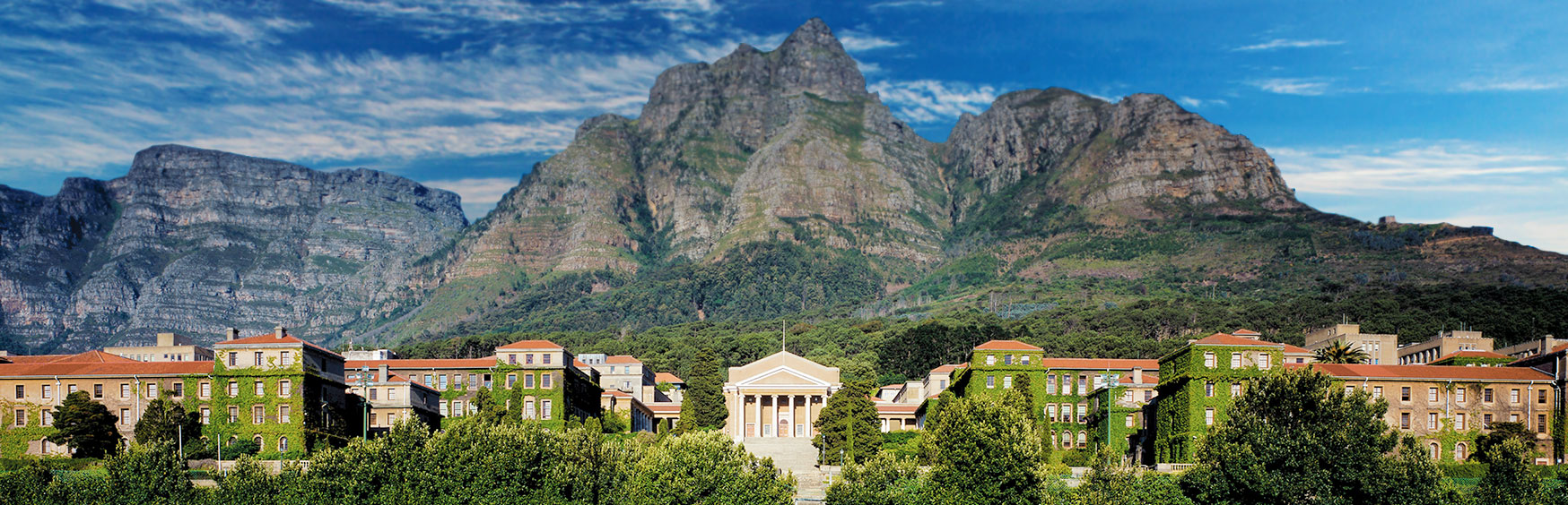 Panorama view of University of Cape Town, Upper Campus